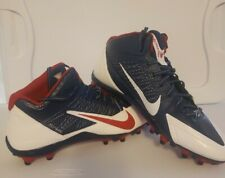 Nike Alpha Pro Flywire Football Cleats Red White Blue 622306-413 Size 14 Men's