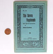 The Seven Vagabonds Nathaniel Hawthorne vintage 1930s LITTLE BLUE BOOK 22 7