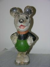 """*WOW Seldom Seen Super Rare VTG 1930s 12"""" Mickey Mouse Doll Statue Hand Painted"""
