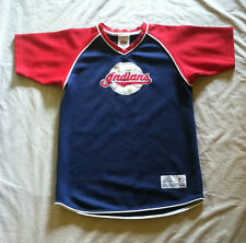 CLEVELAND INDIANS MLB  PULLOVER  BASEBALL  JERSEY BY TRUE FAN  SIZE MED. 8 / 10
