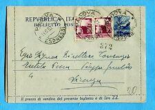 £.20 (B43) + DEM.£.20 COPPIA ann.PADOVA / ESPRESSI, 14.09.50    (879196)