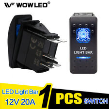 Waterproof Light Bar LED Illuminated Backlit Rocker Switch for Car Truck 4x4 SUV