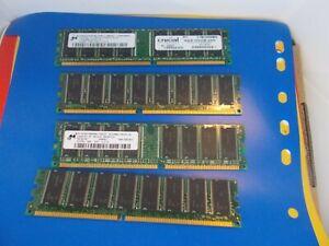 DESK TOP, RAM, MICRON 512MB, DESKTOP RAM, DDR. 333, CL2.5 ….GOLDEN  OLDIE  RAM ,