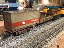 Weathered Hornby FFA/FGAIntermodal/container Wagon, Suit Lima, Bachmann & Jouef