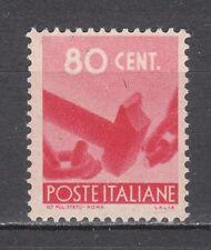 ITALIA 1945 Democratica 80 centesimi rosa carminio nuovo **