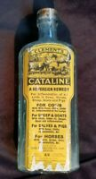 Old Advertising Veterinary Medicine Bottle Clement's Cataline Remedy Cows Horses