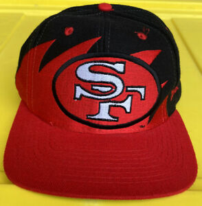 NWOT Vintage 90s San Francisco 49ers Logo Athletic Sharktooth Snapback Hat Cap