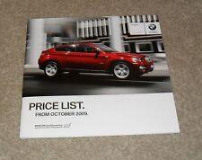 BMW X6 Price Guide Brochure 2009 - xDrive 35i 30d 35d
