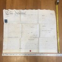 1833 Antique Indenture manuscript mid-C19th dated legal doc 27th May Somerset UK