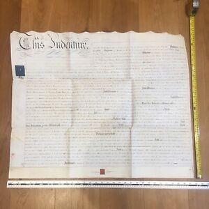 1833 Antique Indenture manuscript mid-C19th - Somerset UK interest
