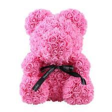 Rose Bear Toy Girls Flower Birthday Valentine Wedding Party Doll Gift (Pink JF#E