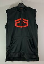 Tapout Mens Sz S Sleeveless Hoodie Sweatshirt ~ Black with Logo