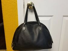 AUTHENTIC PRADA MILANO SOFTCALF BLACK LEATHER HAND BAG PURSE MADE IN ITALY