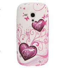 Samsung Galaxy S3 mini i8190 TPU Bumper Schutz-Hülle Cover Case Silikon Herzen