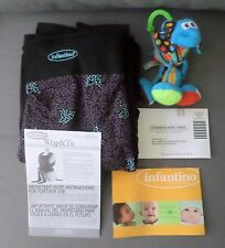 Infantino Wrap n Tie Baby Carrier NEW 8 to 35 lb Blue Black with Manual Extras
