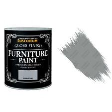 Rust-Oleum Minéral Gris Gloss Crayeux Meuble Peinture Vintage Shabby Chic 125ml