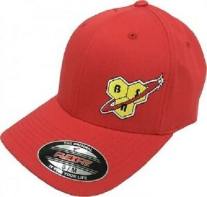 BSN Supplements - Flex Fit Hat, Large/X-Large, Red w/ Yellow BSN Logo