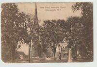1909 Postmarked Postcard State Street Methodist Church Schenectady New York NY