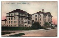St. Michael's Hospital, Grand Forks, ND Hand-Colored Postcard