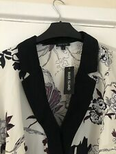 Women's Cream River Island Oriental Print Tux UK Size 12