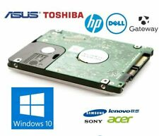 500GB 2.5 HDD SATA HARD DRIVE FOR dell hp ibm TOSHIBA LAPTOP windows 10 PRO