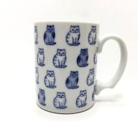 Adorable Blue Kitty Cats Coffee Mug Cup