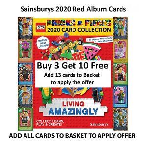 Sainsburys Lego Create The World Living Amazingly 2020 Red Album Cards