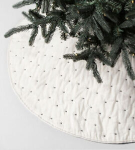 Hearth & Hand with Magnolia Cream and Black Embroidered Star X Tree Skirt