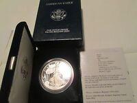 2004 W American Silver Eagle Proof U.S. Mint Box  COA 1 OZ Silver Proof