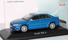 RARE AUDI RS4 V8 B7 8E 2008 SALOON SPRINT BLUE 1:43 MINICHAMPS (DEALER MODEL)