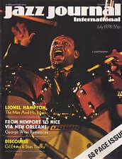 JAZZ JOURNAL MAGAZINE 1978 JUL LIONEL HAMPTON, GIL EVANS, STAN TRACEY