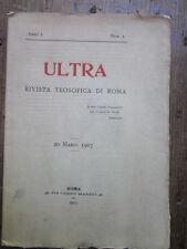 Calvari - Ultra,Rivista teosofica di Roma, anno I, n. 2, 20 marzo 1907-filosofia