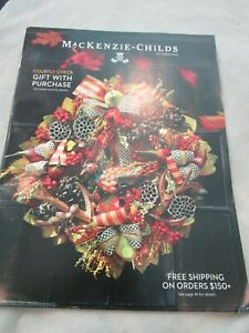 MacKenzie-Childs Catalog Look Book October 2016 Home Furnishings and Gifts New