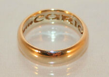 Fine Clogau Welsh 9ct Yellow Gold Cariad Wedding Ring Size K 1/2 -US 5 3/4 (COA)