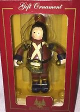 New Vtg Holiday Christmas Roman TOY SOLDIER DRUMMER BOY ORNAMENT Wood?