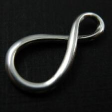 Sterling Silver Infinity Charm - Figure 8-Warped Infinity Charm Pendant