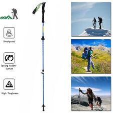 Antishock Walking Hiking Stick 3 Section Adjustable Retractable Trekking Pole WF