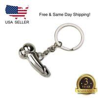 Funny Creative Men Metal Car Key Chain Ring Keyring Keychain Keyfob DIY Gift