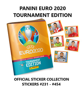 PANINI EURO 2020 TOURNAMENT EDITION STICKER COLLECTION - #231 - #454
