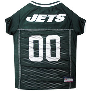 NEW YORK JETS #00 Licensed NFL Pets First Dog Pet Mesh Jersey Green, XS-2XL NWT