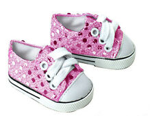 Pink Sequins Sneakers Fits 18 inch American Girl Dolls
