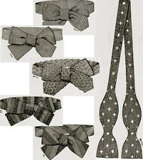 How to make bow ties- Downton Abbey,Titanic era-vintage crochet,knitting pattern