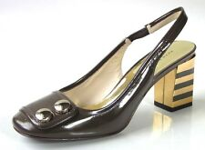 new $495 new MARC JACOBS olive/gold slingbacks heels Shoes 36  6