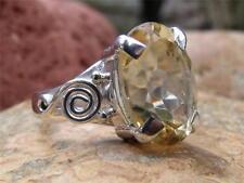 Silverandsoul Citrino Argento 925 Anello Taglia M 1/2 * noi 6.5 handcrafted gioielli