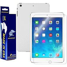 ArmorSuit MilitaryShield Apple iPad Mini w/ Retina Screen + White Carbon Fiber