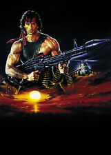 Rambo: First Blood Part II (1985) Sylvester Stallone movie poster 24x33 inches