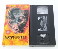 Friday The 13th Jason Goes To Hell Jason Voorhees VHS Slasher Horror