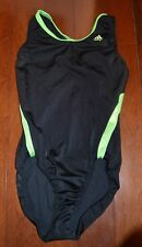 Gk Elite Girls Gymnast Gymnastics Adidas Athletic Black Green Leo Leotard Xs