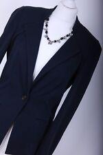 DIANE VON FURSTENBERG RRP £775 UK 8 EU 36 Navy Blue Casual Blazer Suit Jacket