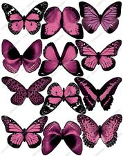 Cakeshop 12 x PRE-CUT Pink Edible Butterfly Cake Toppers